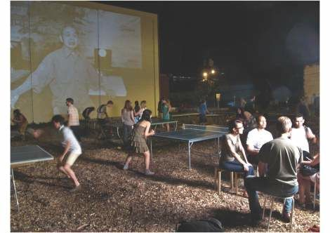 Popup ping pong instigated by Wing Young Huie and Ashley Hansen, courtesy Creative CItyMaking