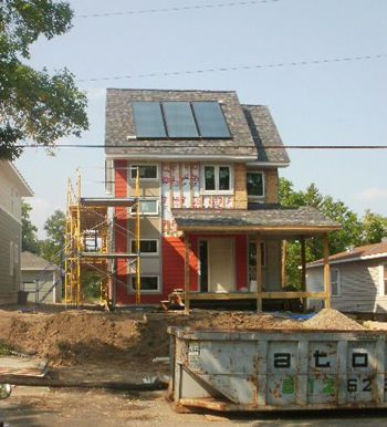Habitat for Humanity's Net Zero House under construction, courtesy Dan Handeen