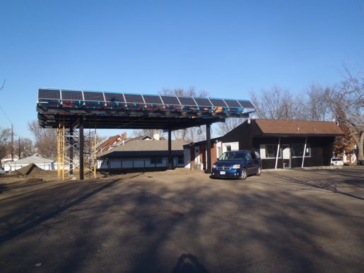 The Tiny Diner's solar array, courtesy EcoMetro Tour