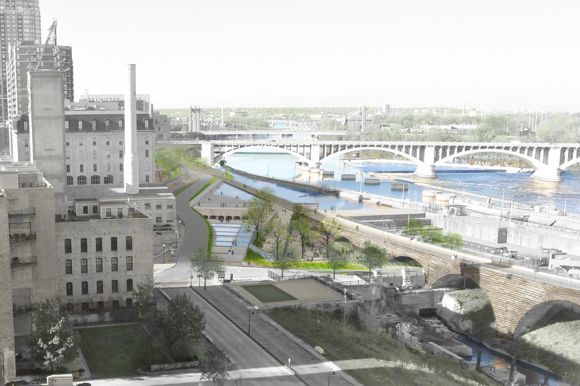 Water Works Park, rendering courtesy of SCAPE
