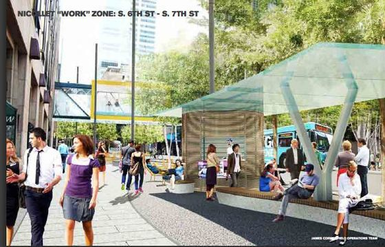 James Corner rendering for Nicollet Mall