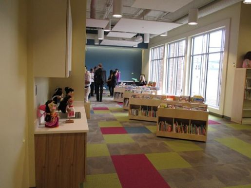 Inside the Arlington Hills Library