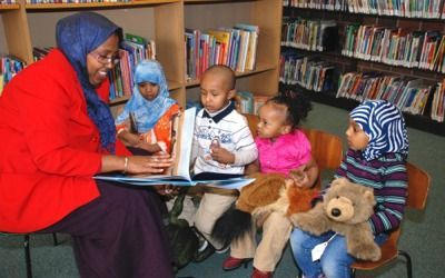 Story hour at the Franklin Library