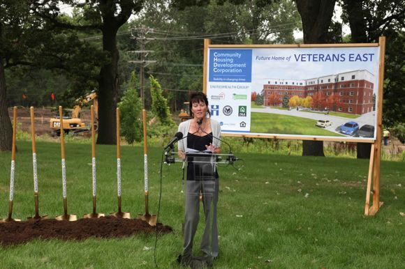 CHDC breaks ground in new affordable-housing project for homeless veterans