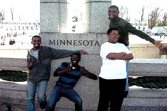 MNUDL debaters at the National WWII Monument in Washington, DC last year