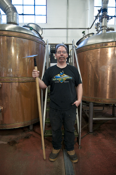Flat Earth Head Brewer Jeff Williamson