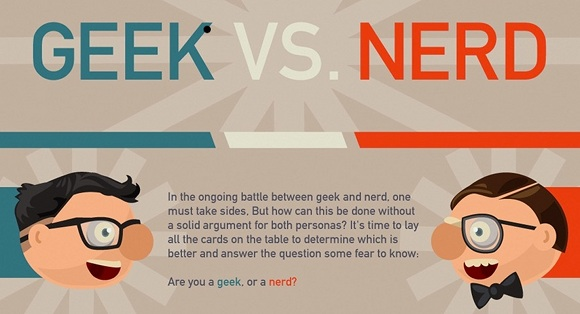a line or two the difference between geeks and nerds