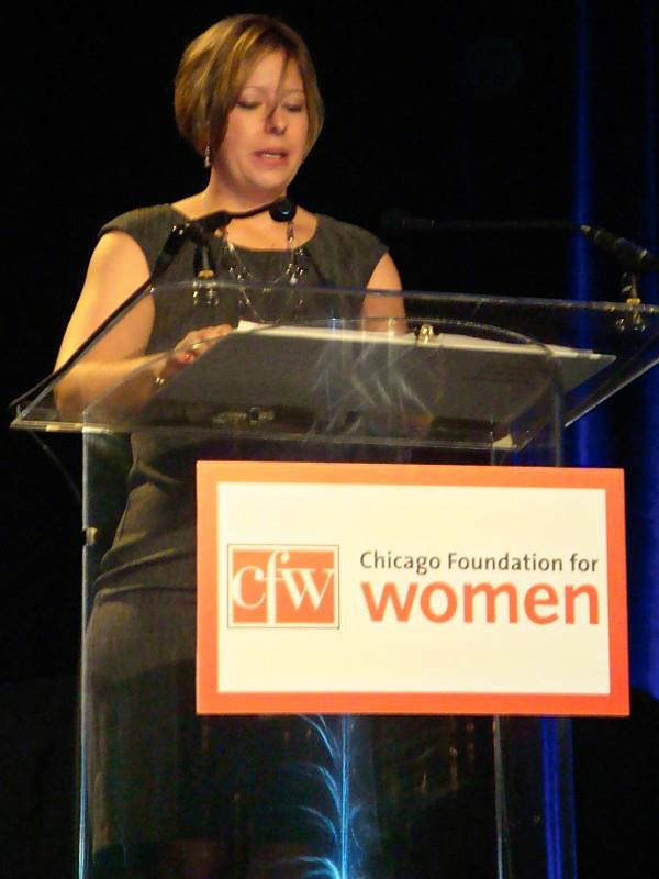 Tawnee McCluskey at the Chicago Foundation for Women 27th annual luncheon