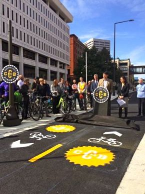 The opening of Capital City Bikeway